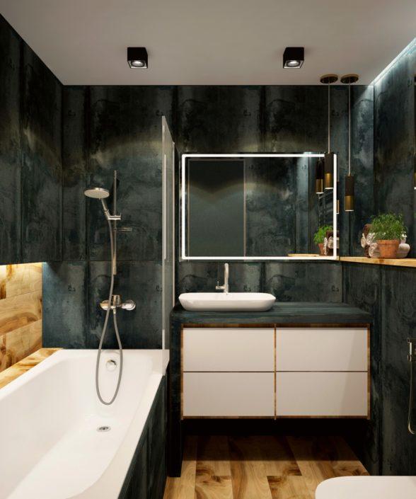 Baño con suelo vinílico Discesur