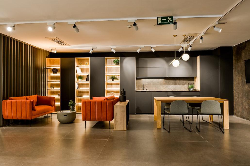 La nueva zona de cocinas Santos en nuestro showroom de Alcobendas