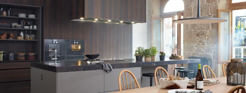 Diseño de cocina abierta de Santos