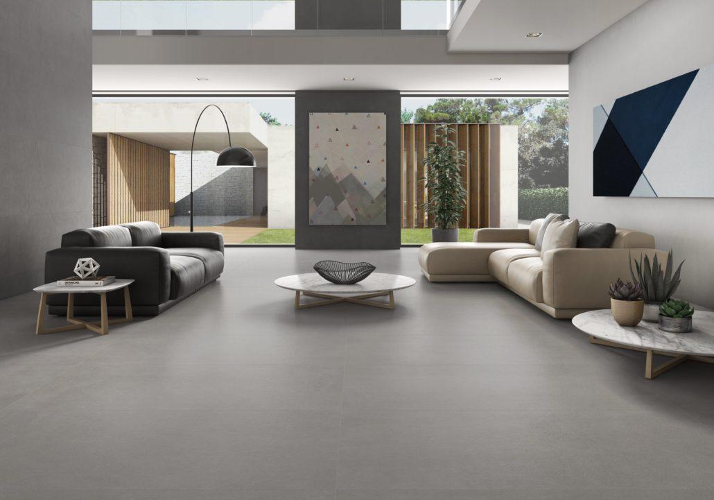 Salón diseñado con la serie Core de Argenta.