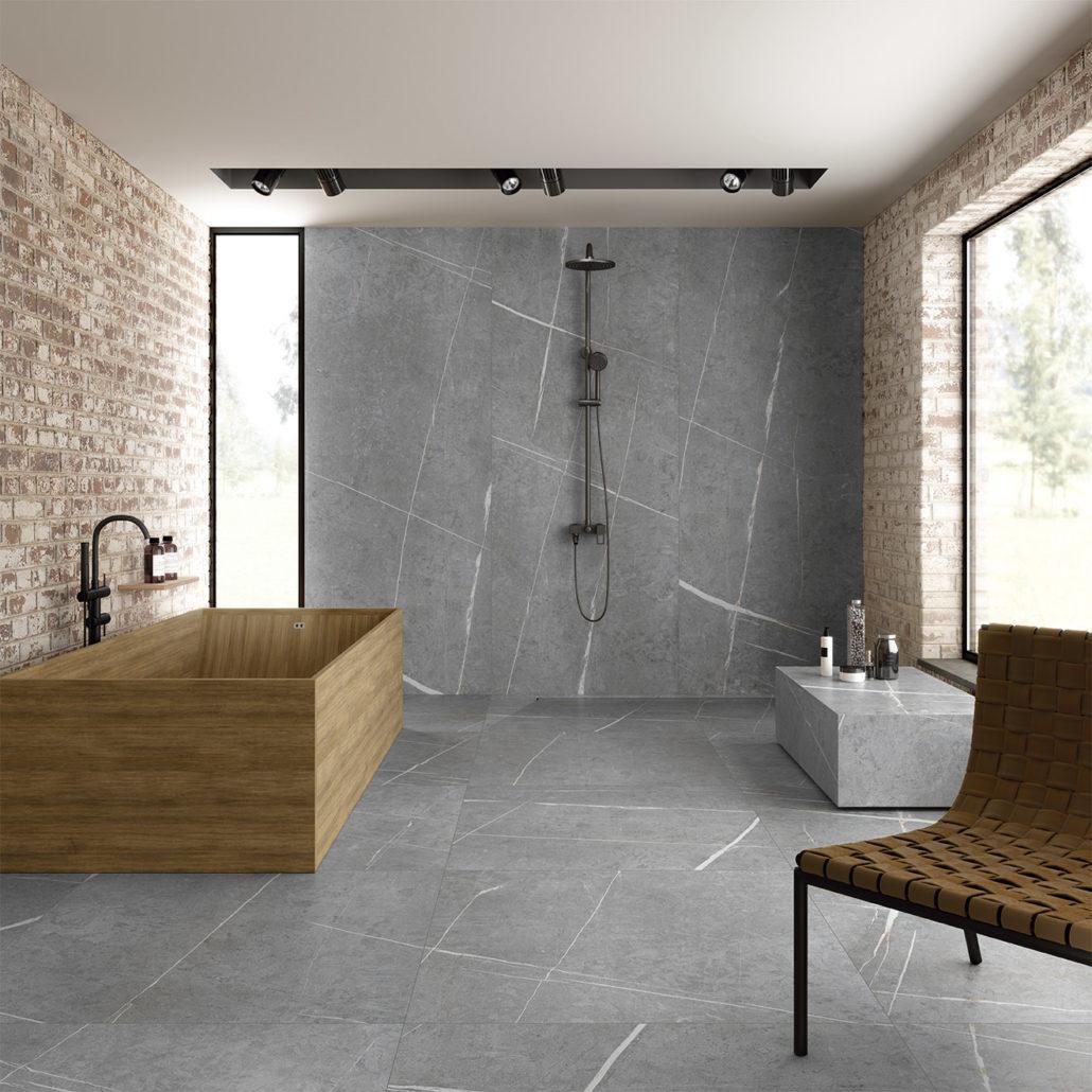 La cerámica es una gran aliada para un baño de lujo.