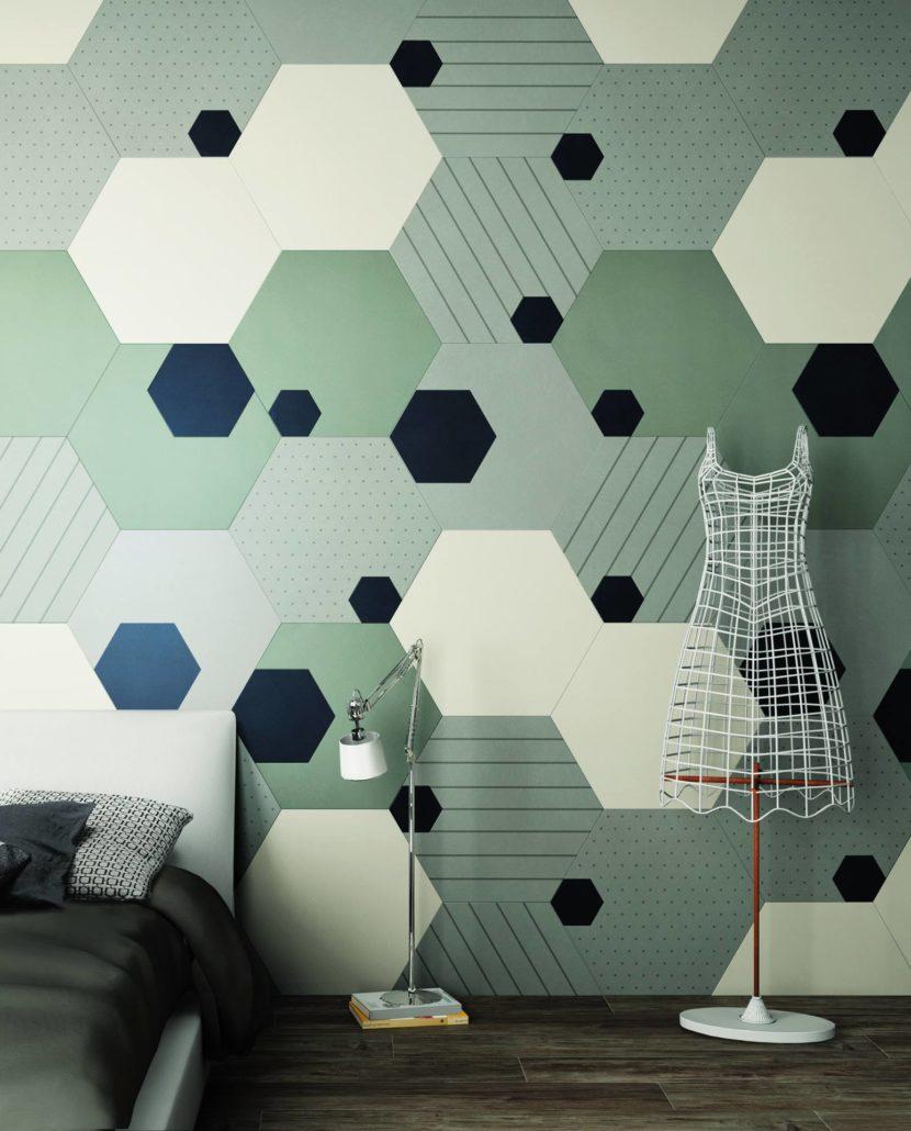 Las formas geométricas también son una de las tendencias en cerámica para el 2021.